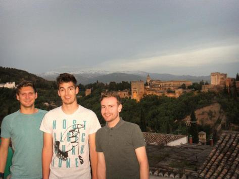 alhambra, granada, spain, tourists