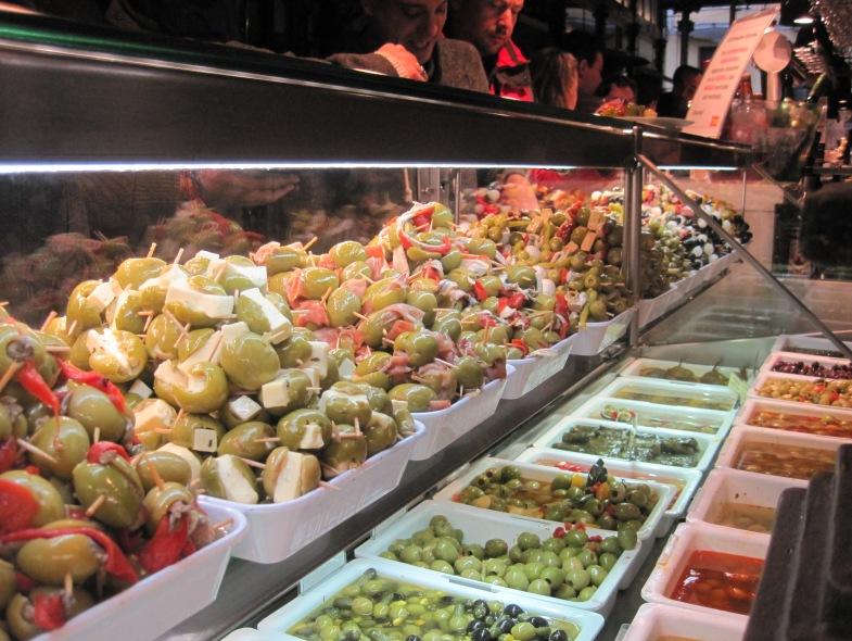 Olives, aceitunas, San Miguel Mercado, Madrid