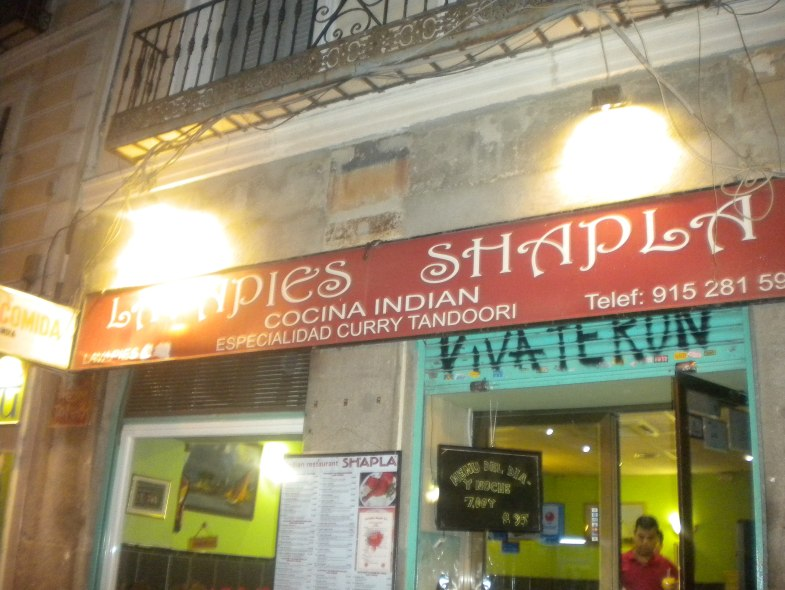 Lavapies, curry, Madrid