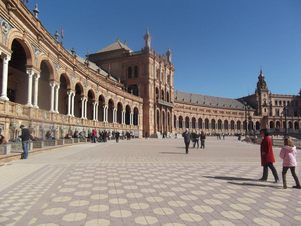 seville, plaza de españa, spain, tefl, teach