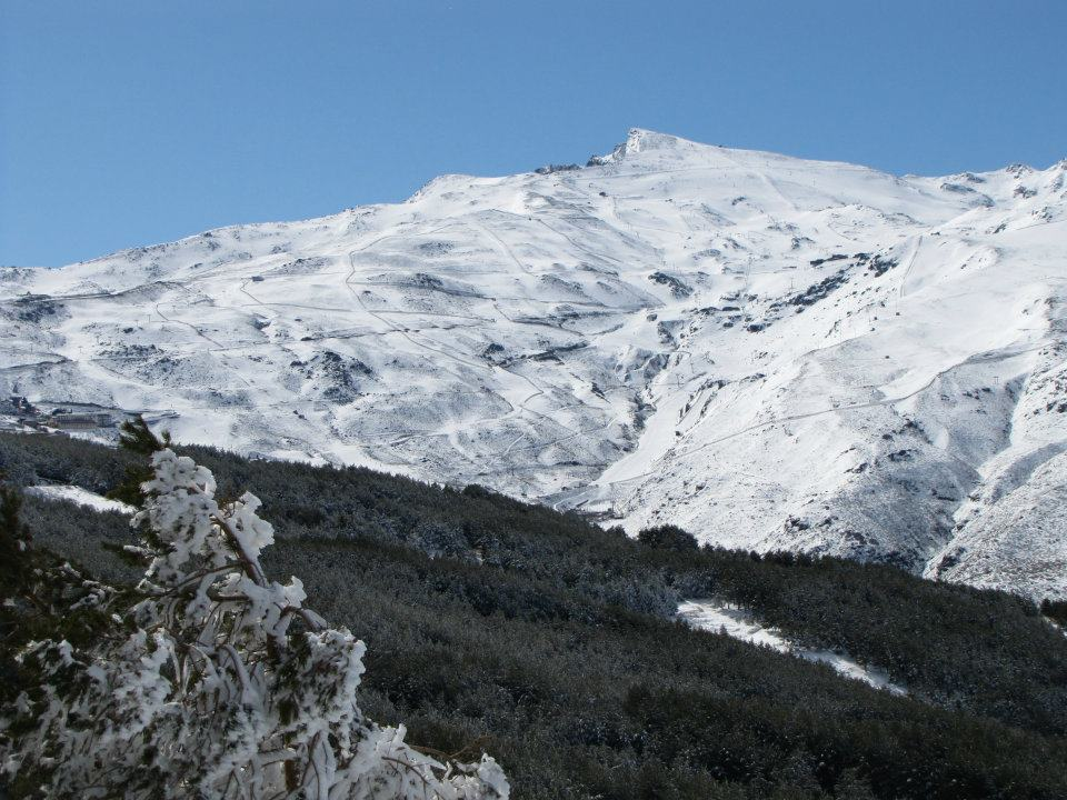 sierra nevada, spain, winter, snow, ski