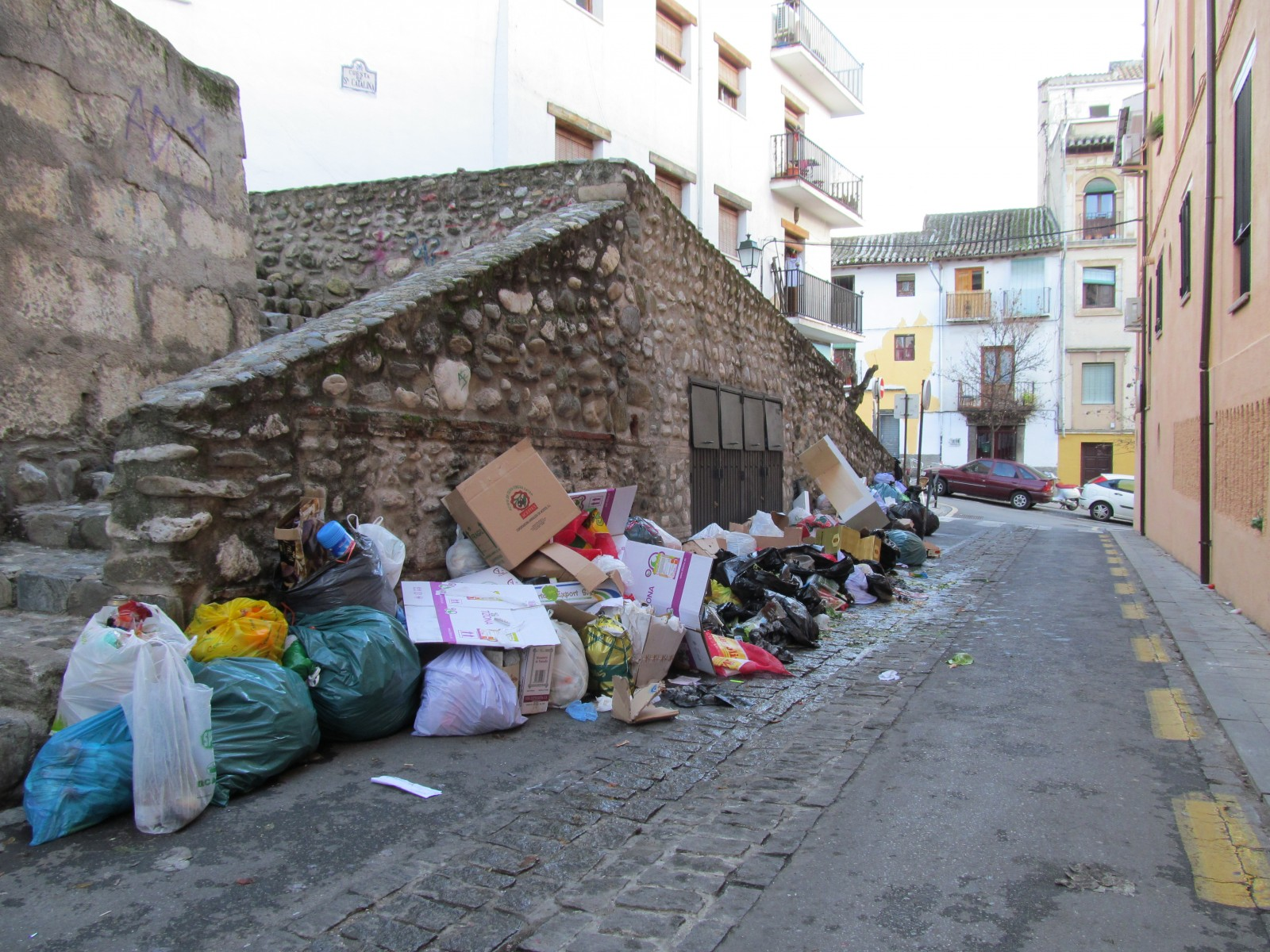 rubbish, el realejo, granada, strike, huelga, rubbish strike