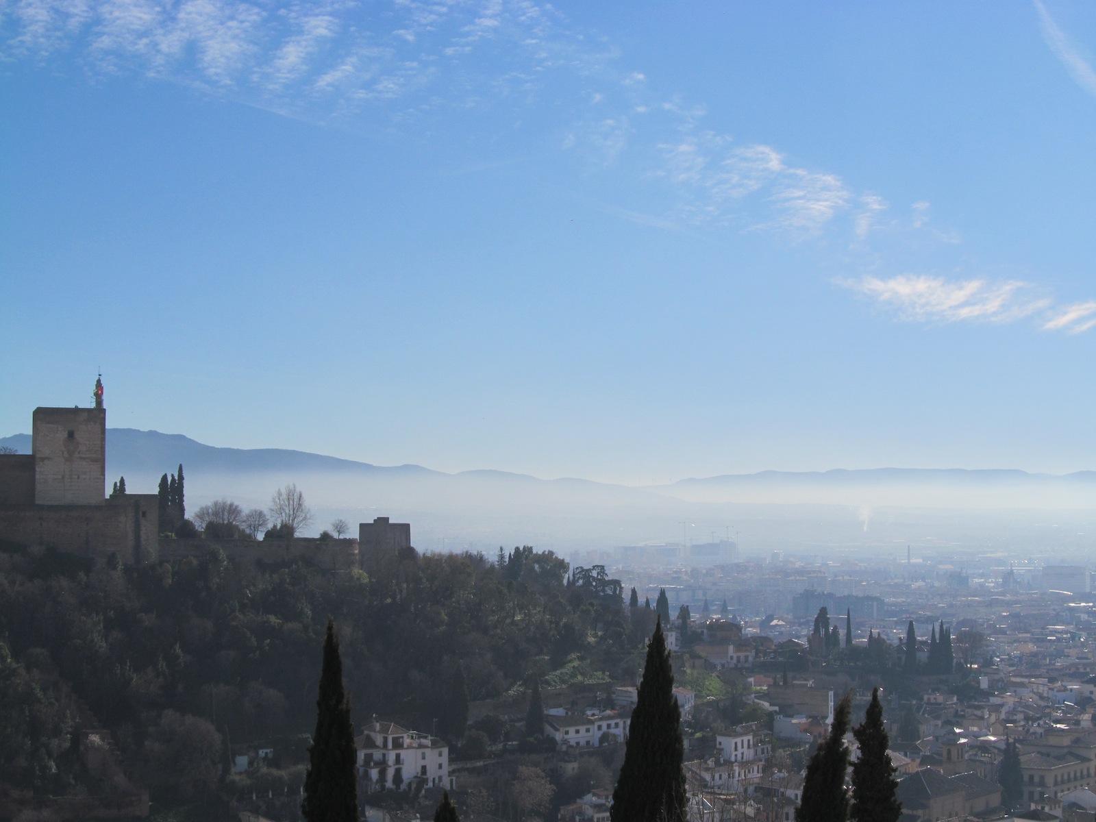 The Alhambra Palace, Granada, Spain, winter, sierra nevada