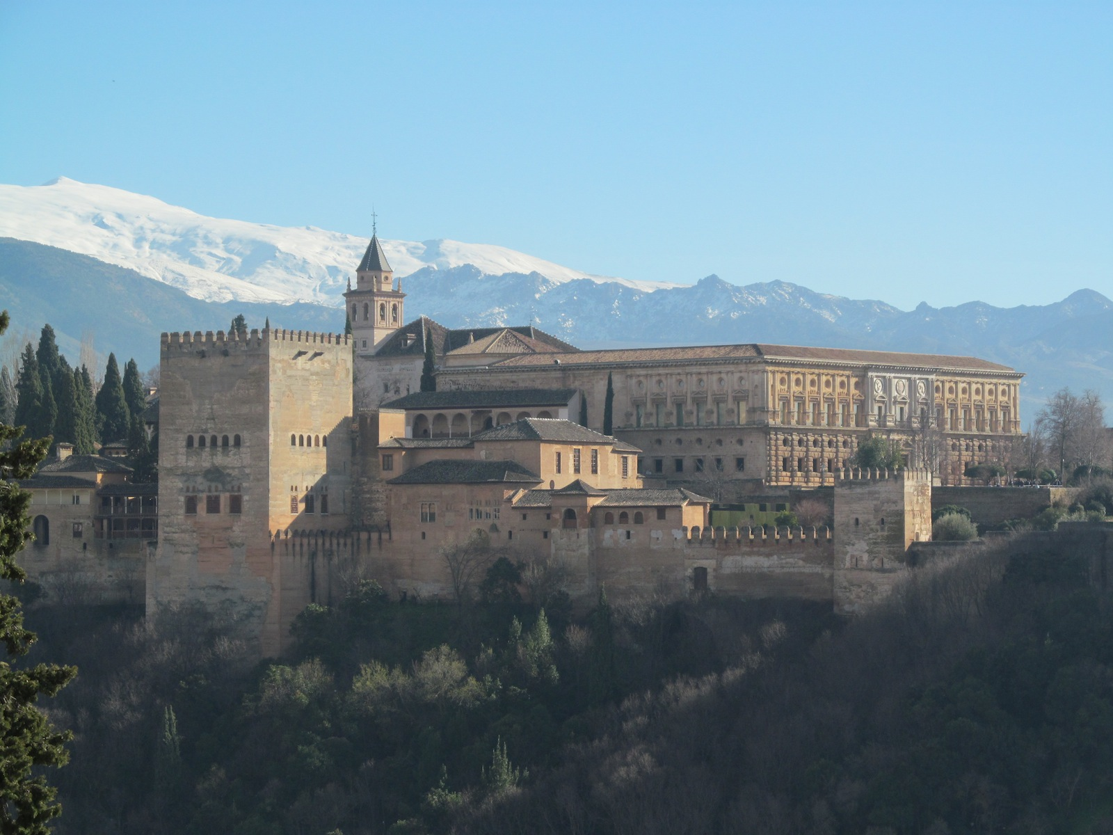 The Alhambra Palace, Granada, Spain, winter, sierra nevada