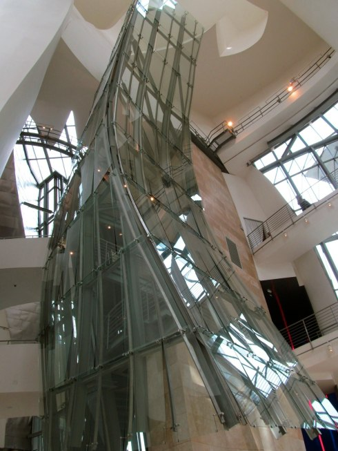 Elevator inside the Guggenheim