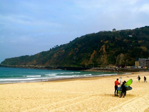 san sebastian, basque country, spain, playa de concha