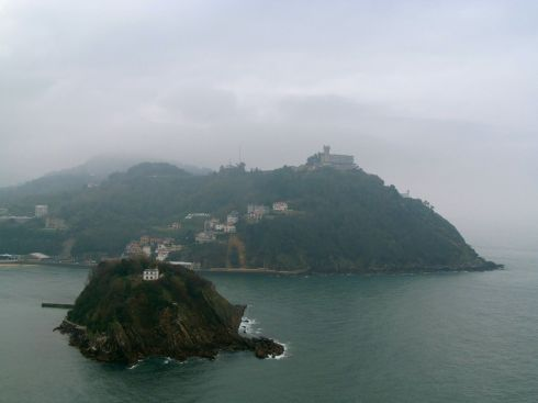 san sebastian, basque country, spain, monte urgull, santa clara