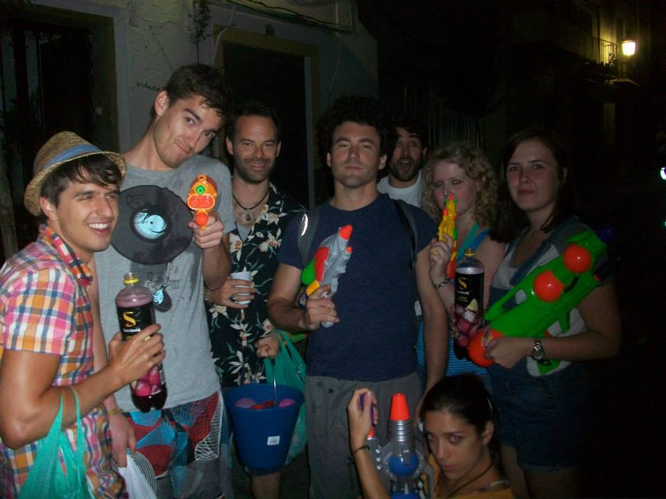 water fight lanjarón spain fiesta de agua